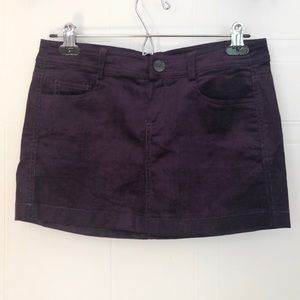 🖤Purple Corduroy Mini Skirt 🖤